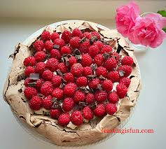raspberry chocolate pavlova feasting is fun