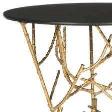 black and gold side table amazon com safavieh home collection tara gold accent table kitchen