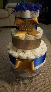 royal blue u0026 gold prince diaper cake for baby shower gift or