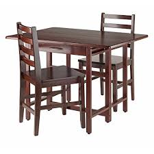 Drop Leaf Outdoor Table Winsome Wood Taylor 5 Pc Set Drop Leaf Table W 4 Folding Chairs