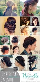 cute hairstyles you can do in 5 minutes 15 hairstyles you can do in less than 5 minutes hair make up