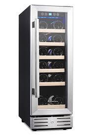 mini bar fridge glass door amazon com kalamera 15 u0027 u0027 wine cooler 30 bottle built in or