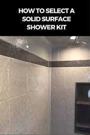 how to select a stone solid surface shower kit waterproof wall