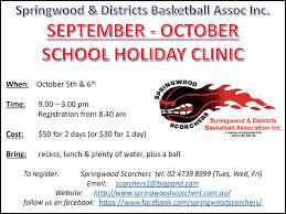 september october holidays clinic springwood scorchers