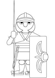 Coloriage  Guerrier romain  Coloriages à imprimer gratuits