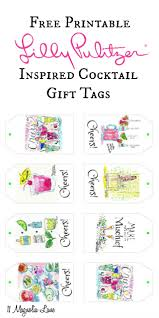 lilly pulitzer inspired cocktail party gift tags free printable