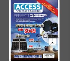 the deluxe portable satellite tv kit with no receiver caravan