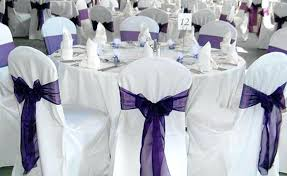 bows for chairs chair covers and sash free shipping purple wedding organza
