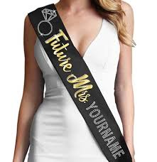 custom sash future mrs custom gold foil rhinestone sash to be sash