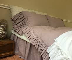 Ruffle Bedding Shabby Chic by Amazon Com Orchid Duvet Cover In Vintage Ruffle Style Linen