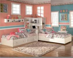trundle bed for girls bedroom comely girls room in pink wood trundle bed with stripes