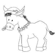 10 free printable donkey coloring pages