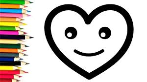 baby hearts coloring pages how to draw hearts and coloring for