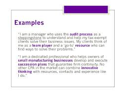 Example Of Personal Resume by Personal Branding For Cpas