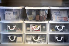 Storage Bins For Shelves by My Very Organized Linen Closet Shelf Time With Thea