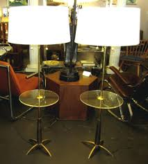 Stiffel Floor Lamps With Glass Table by Vintage Stiffel Co Electric Table Lamp Solid Brass Mid Century