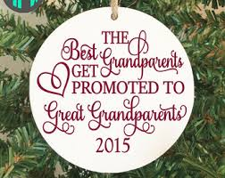 grandparent christmas ornaments great grandparents etsy