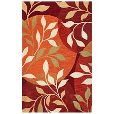 Rust Area Rug Kas Rugs Modern Leaf Rust 8 Ft X 10 Ft Area Rug Bai28738x10