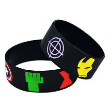 man rubber bracelet images 2018 wholesale the avengers silicone wristband bracelet captain jpg