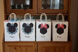 mickey mouse favor bags mickey mouse and minnie mouse birthday party s drozdowski