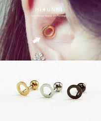 earring helix 16g circle cartilage earring helix conch tragus ear piercing