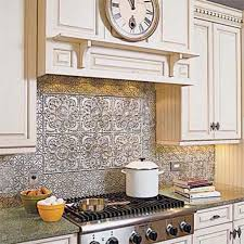 faux tin kitchen backsplash amazing faux tin backsplash roll aspect peel and stick metal tiles