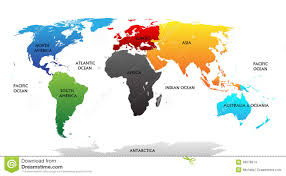 Blank World Map Of Continents by Continents And Oceans Lessons Tes Teach
