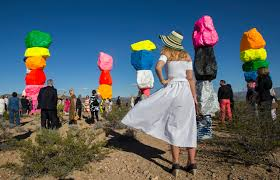 seven magic mountains u0027 adds vivid color to the desert u2014 photos