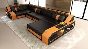 couch auf raten leder wohnlandschaft karlsruhe als u form mit ottomane