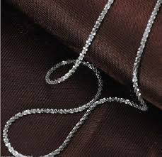 aliexpress gold necklace images Authentic quot au750 quot solid 18k white gold necklace italy many star jpg