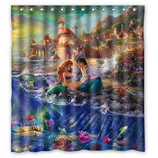 The Little Mermaid Curtains Little Shower Curtains Shower Curtain Rod