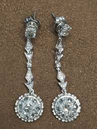 detachable earrings detachable earrings stud dangle pendant white gold 18 kt