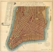 Manhattan Street Map File 1807 Bridges Map Of New York City 1871 Reissue