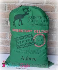 santa sacks personalized santa sacks reindeer design green sack christine