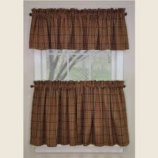 Curtains Valances Country Valance Curtains Primitive Spice Pattern