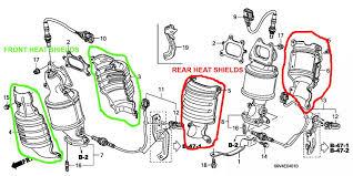 2005 honda odyssey torque converter heat shield replacement