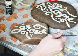 make painted rock garden markers the diy mommy