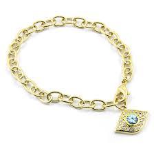 s charm bracelet ayasha s goldtone evil eye charm bracelet