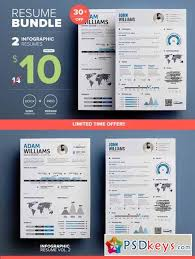 Infographic Resumes Infographic Resume Mini Bundle 306554 Free Download Photoshop