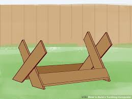 How To Build A Toy Chest Out Of Wood by How To Build A Tumbling Composter With Pictures Wikihow