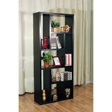 amazing black wooden shelves with graded rack for bookshelves room