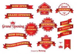 grand opening ribbon grand opening ribbon free vector graphic free found