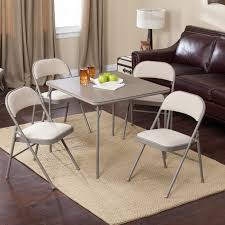 Fold Up Dining Table And Chairs Meco 34 In Square Vinyl Folding Card Table Hayneedle