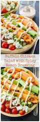 buffalo chicken salad with spicy ranch dressing recipe spicy