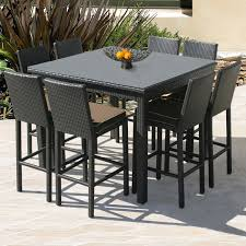 Bar Height Patio Furniture by Wood Bar Height Patio Table And Chairs Pleasant Bar Height Patio