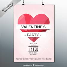 valentines party poster template vector free vector download in