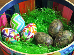 camouflage easter eggs plastic decorating eggs frugal upstate
