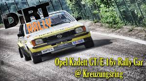 opel rally car dirt rally opel kadett gt e 16v rally car kreuzungsring youtube