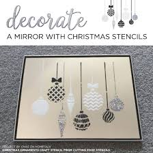 decorate a mirror with stencils stencil stories