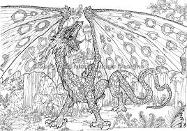 coloring scary dragon coloring pages monster brains